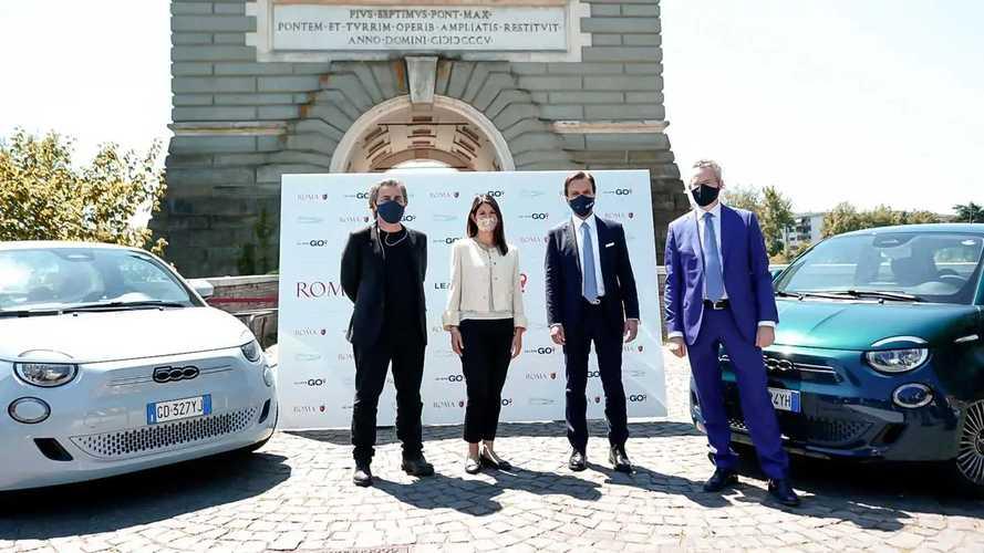 Leasys GO! Roma, il car sharing della Fiat 500 elettrica