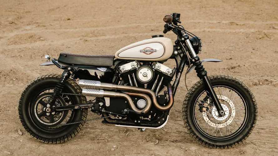 Custom Builder Morphs A Harley Bobber Into A Desert Scrambler