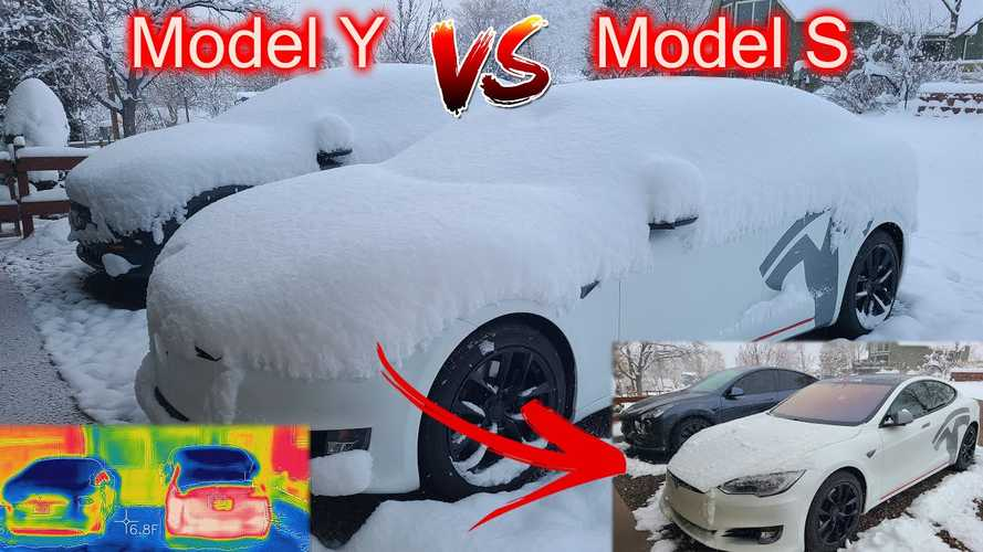 Tesla Model Y And Model S Winter Test: Which Can Melt More Ice?