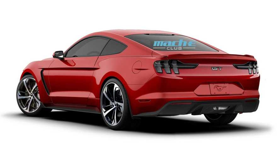 Ford Mustang electric renderings