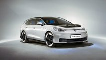 volkswagen id3 electric wagon rendering