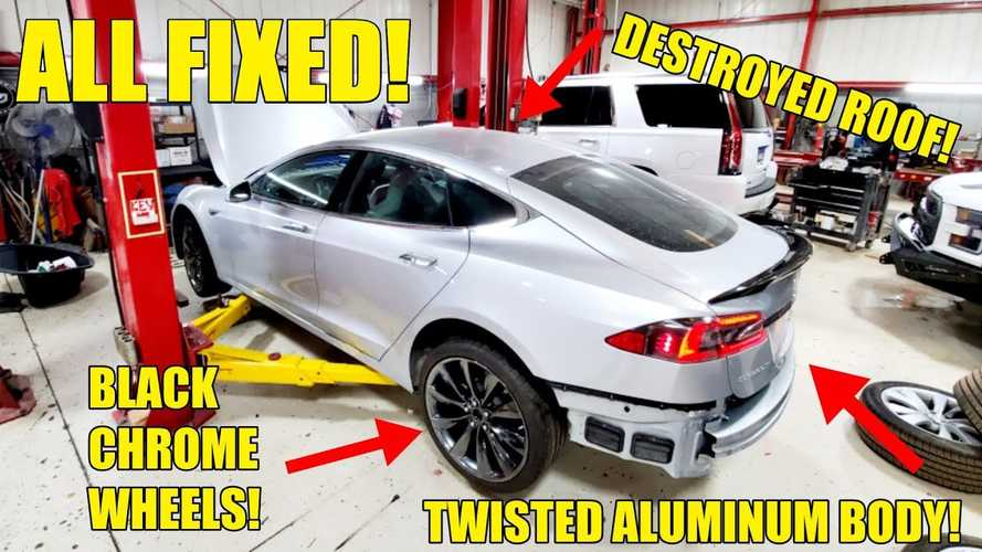 See The Work It Takes To Repair Tesla's Aluminum Body Damage
