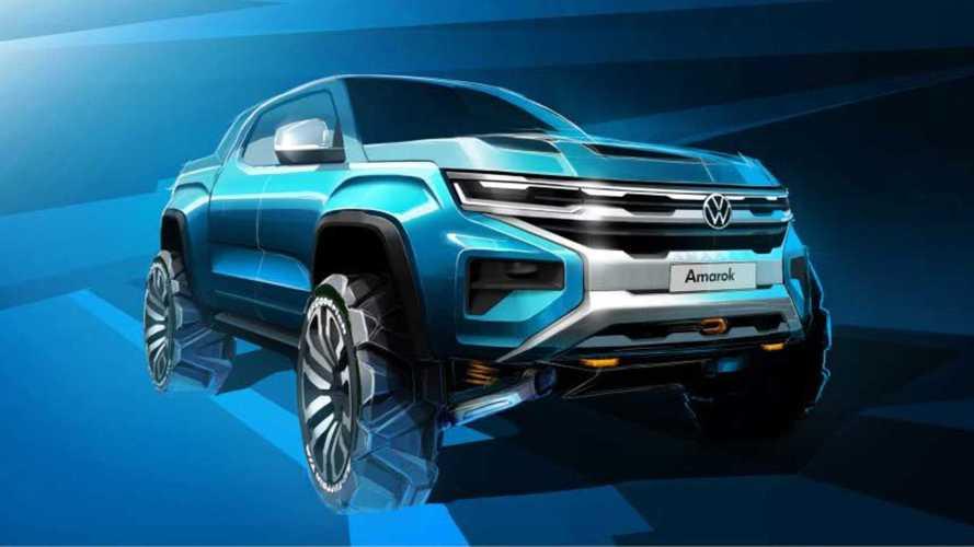 VW Amarok (2022): Erstes Bild des kommenden Ford-Ranger-Zwillings