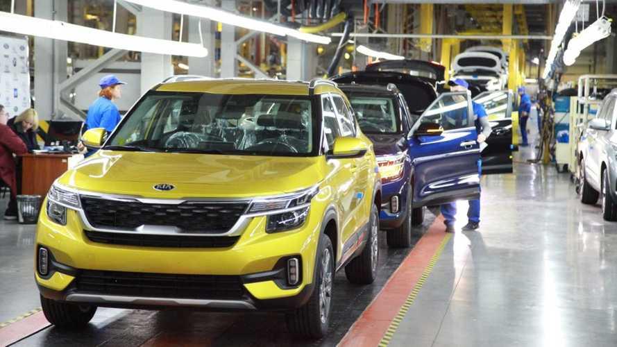 В России упало производство легковых автомобилей