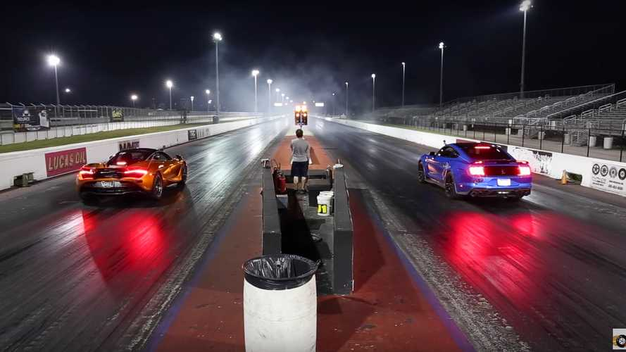 2020 Shelby Mustang GT500 With Some Mods Drag Races McLaren 720S