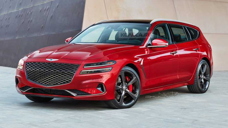 Genesis G70 Rendered As A Facelifted Wagon