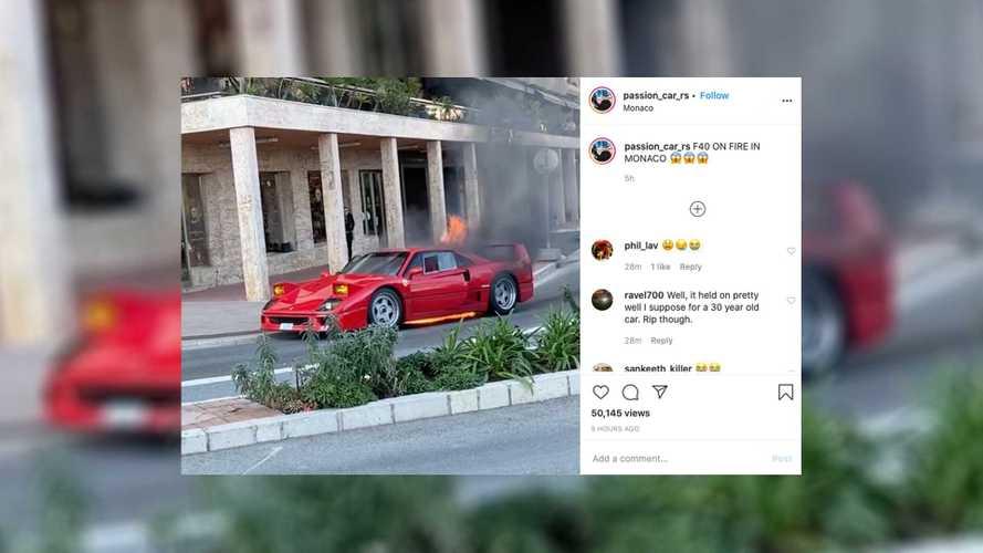 Посмотрите, как не надо тушить винтажный Ferrari F40