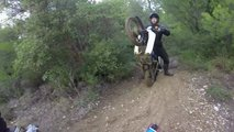 honda cub off roading video