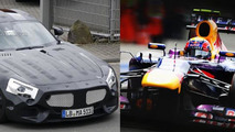 Mercedes C190 and Mark Webber of Red Bull Racing