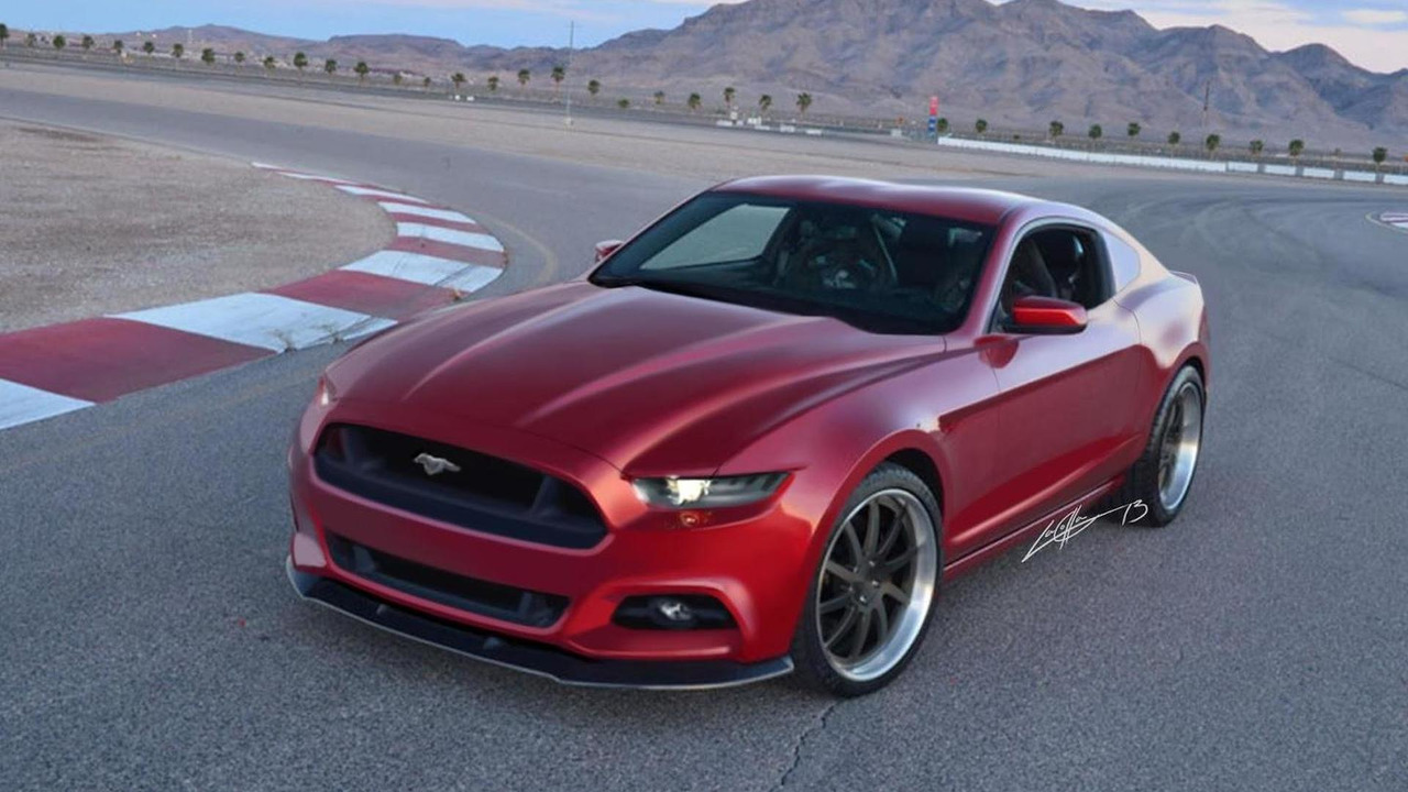 2015 Ford Mustang rendering 17.10.2013