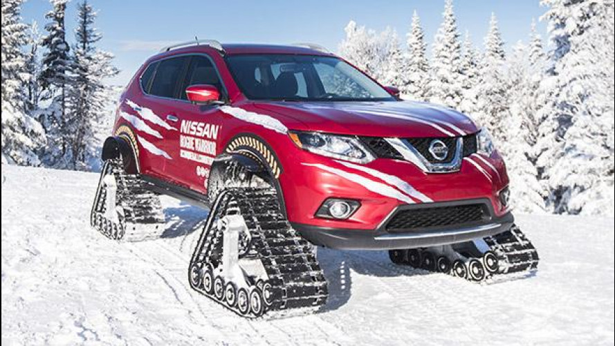Nissan Rogue Warrior, l'X-Trail delle nevi [VIDEO]