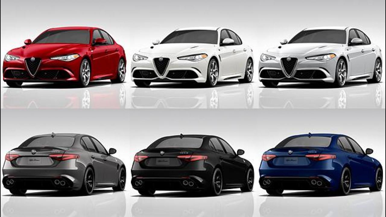 [Copertina] - Alfa Romeo Giulia Quadrifoglio, il configuratore USA è online