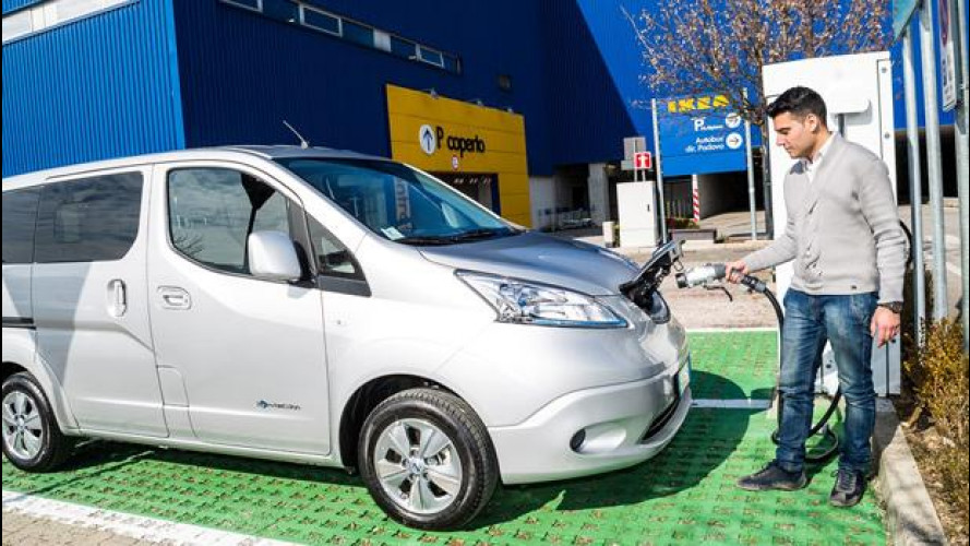 Nissan, una colonnina elettrica ad IKEA Padova