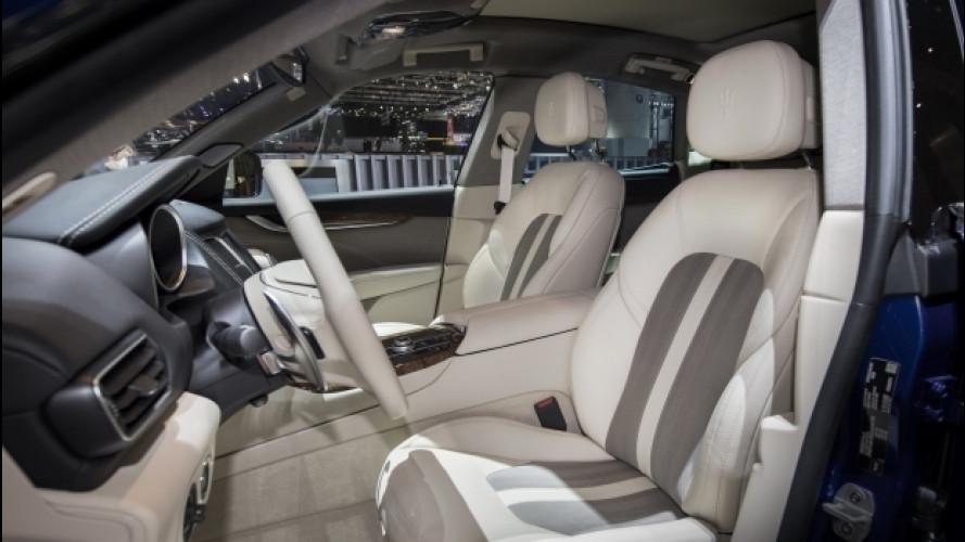 Maserati Levante Ermenegildo Zegna, nuova seta di colore beige