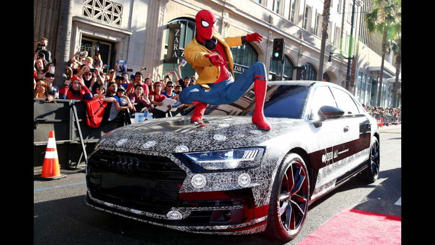 Nuova Audi A8, eccola sul red carpet di Spiderman: Homecoming