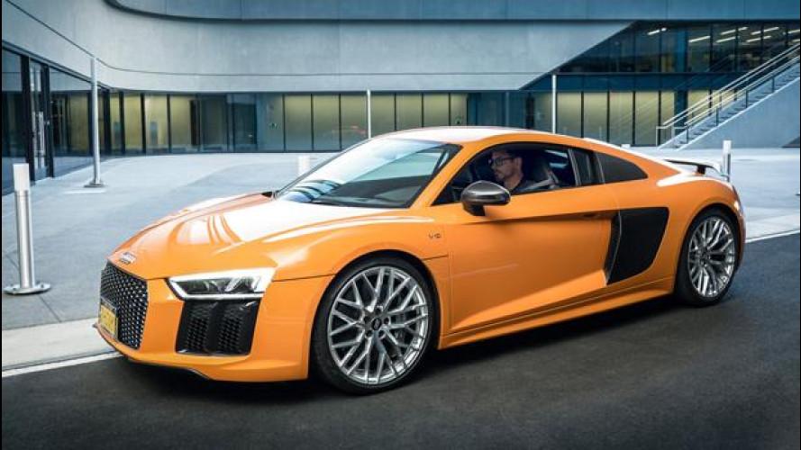 Audi R8 è ancora l'auto di Iron Man, ma stavolta è V10 Plus