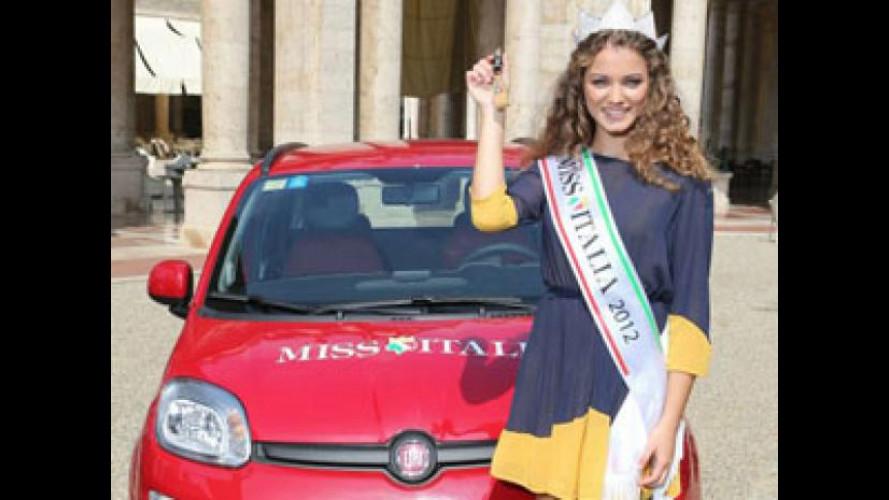 A Miss Italia 2012, Giusy Buscemi, una nuova Fiat Panda