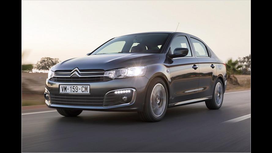Citroën C-Elysée und Peugeot 301: Facelift der Stufenheck-Brüder