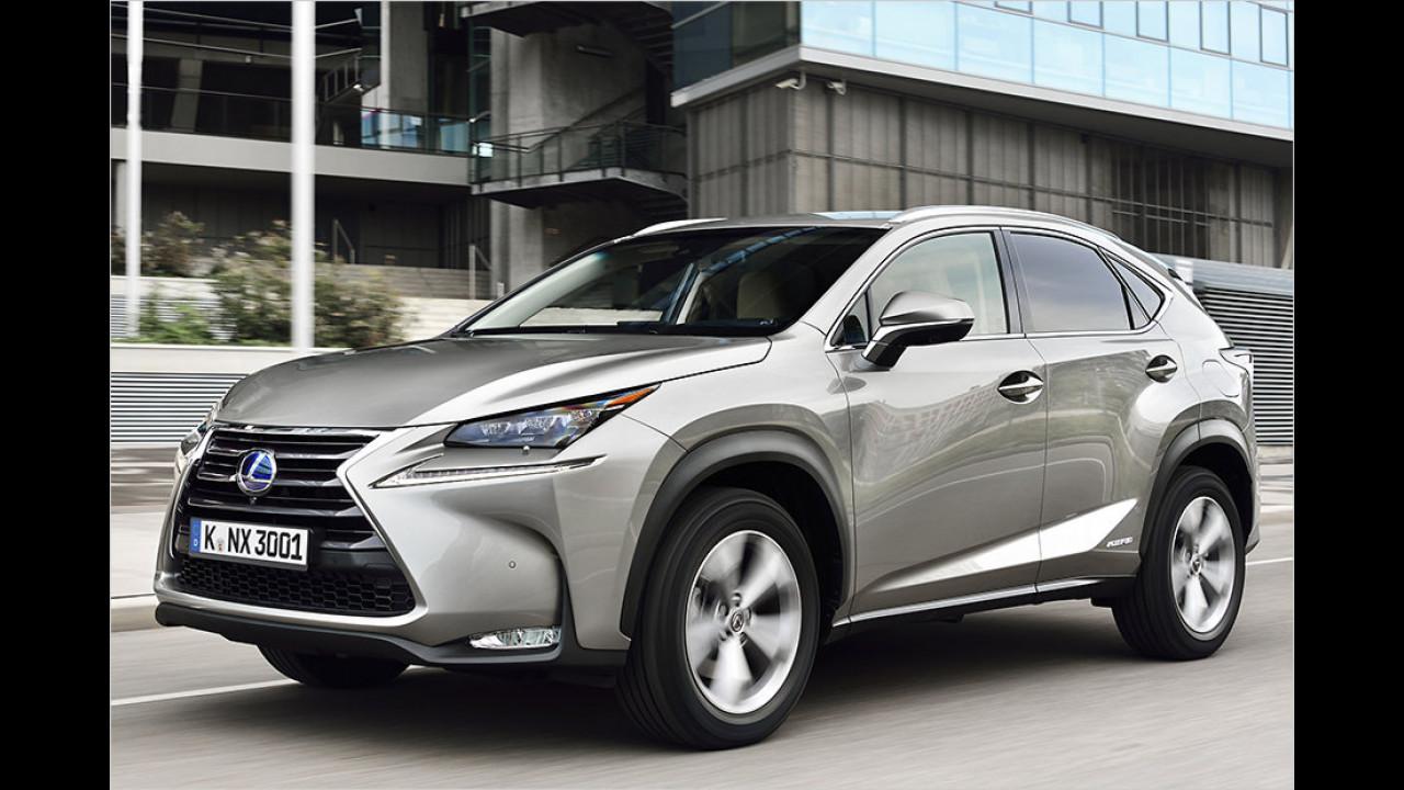 SUVs und Geländewagen: Lexus NX als stärkster Gewinner