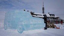 Mercedes-Benz Clase G esculpido en hielo
