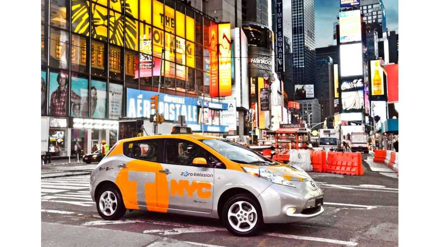 Because It's Earth Day: Nissan Launches LEAF Taxis in NYC