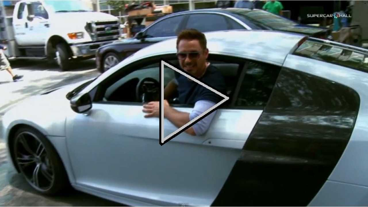 Video: Audi R8 e-tron Gets Lead Billing In Iron Man 3, And At London VIP Screening