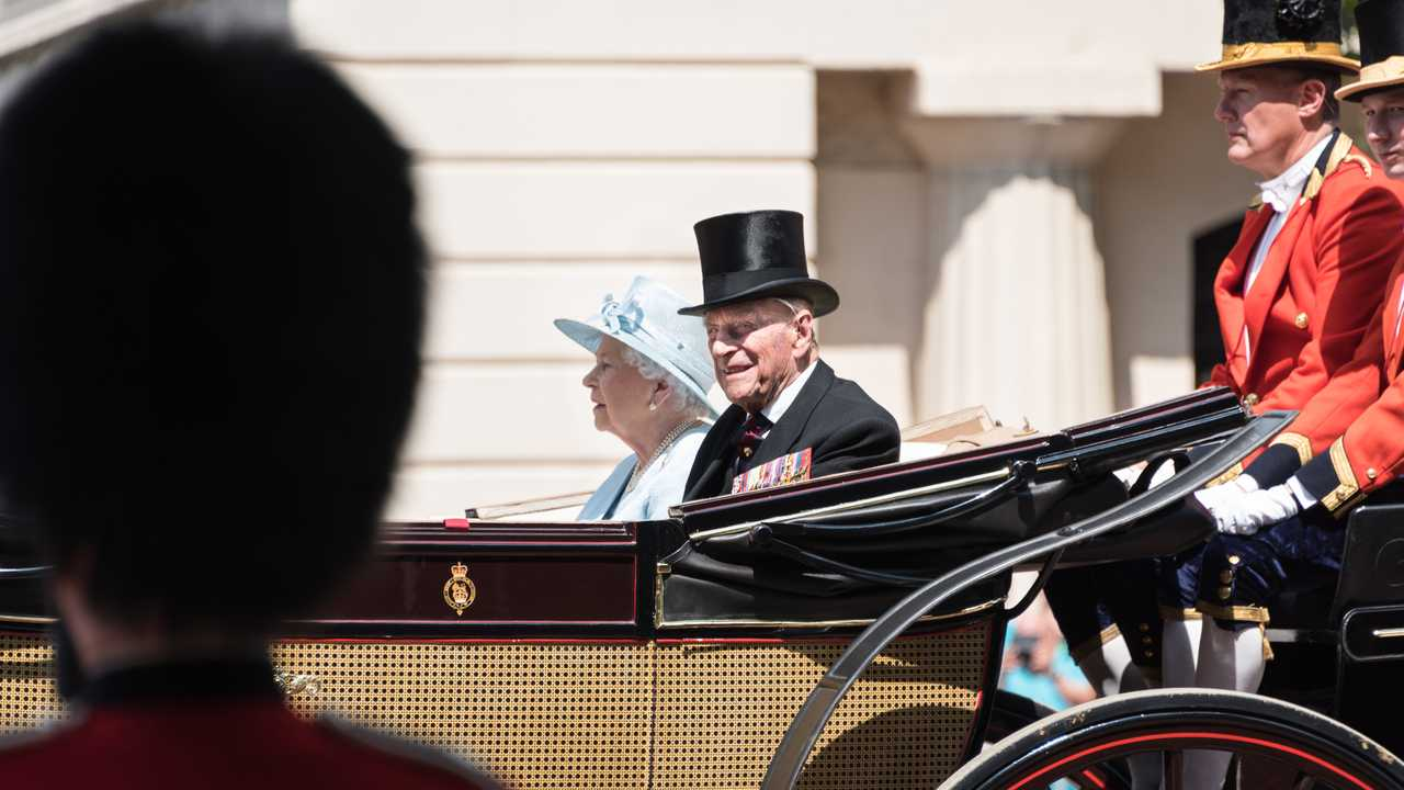 HRH Prince Philip with Queen Elizabeth during her 2017 birthday celebration