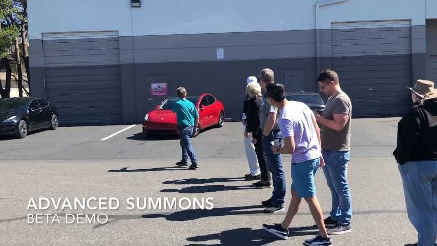 Tesla Enhanced Summon Demo Draws Big Crowd