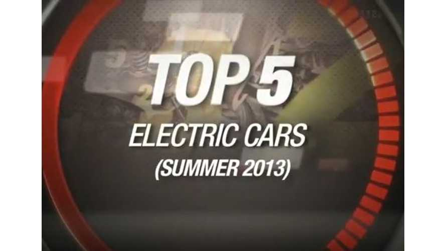 Video: CNET Lists its Top 5 Electric Vehicles of Summer 2013