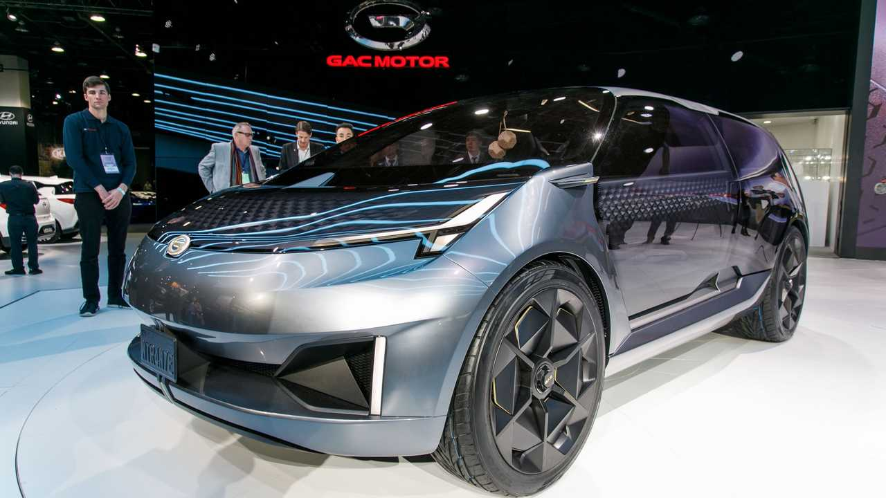GAC Entranze EV concept, le foto live da Detroit