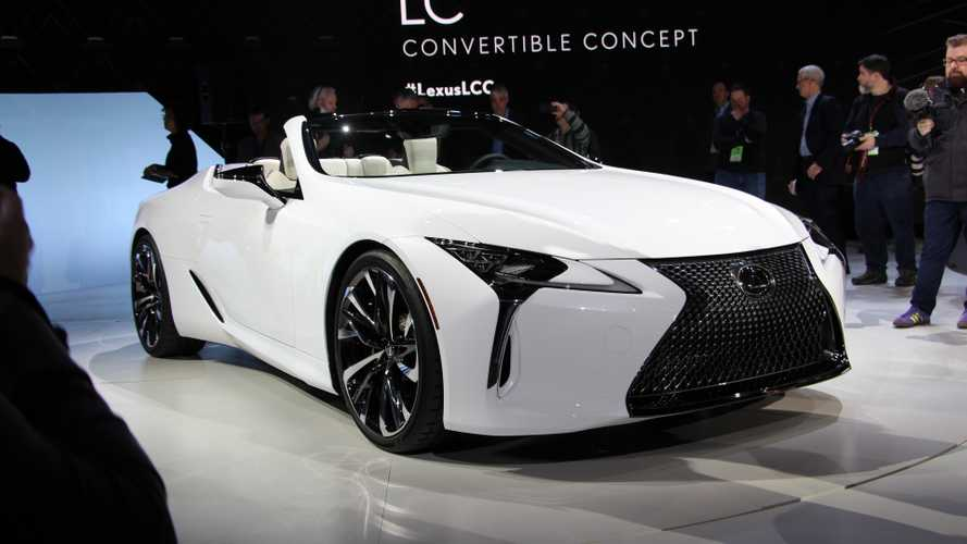 Lexus convertible LC concept revealed ahead of Detroit debut