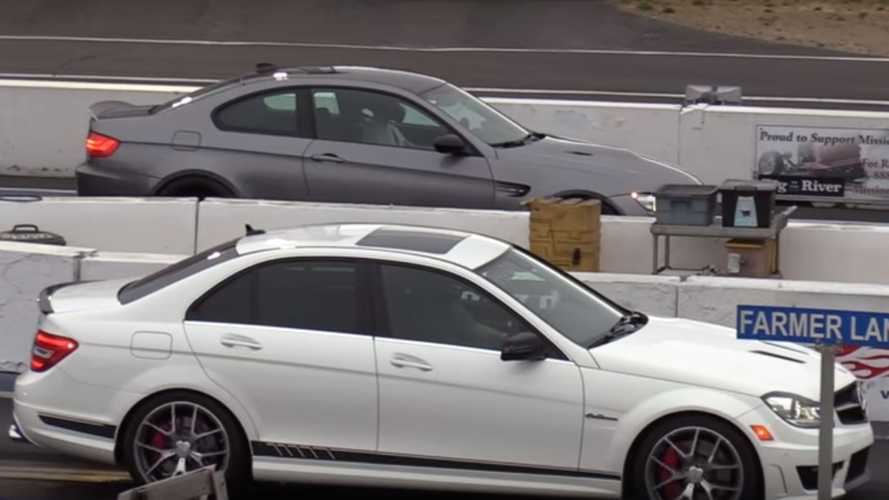BMW M3 Battles C63 AMG In German V8 Drag Race