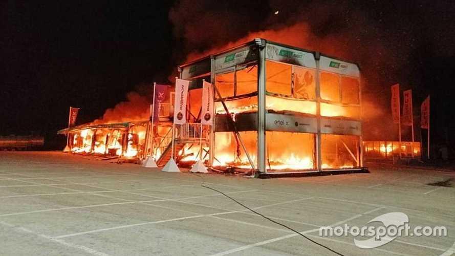 MotoE: Incêndio destrói todas as motos elétricas durante a noite em Jerez
