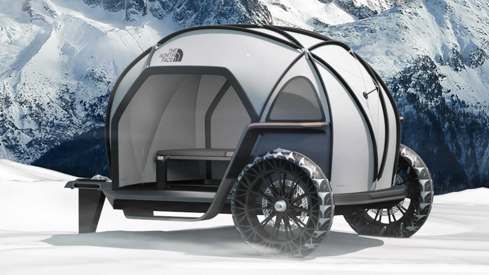 d25e8e334 BMW And North Face Camper Concept Looks Like Arctic Isetta
