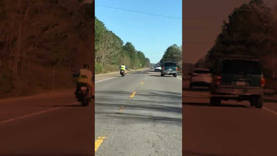 This Is How Not To Tow A Motorcycle