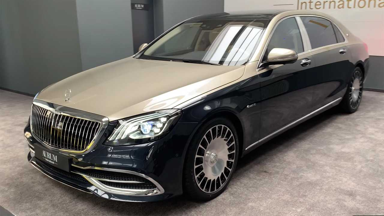 Two-tone Mercedes-Maybach S560 has over £60k worth of options
