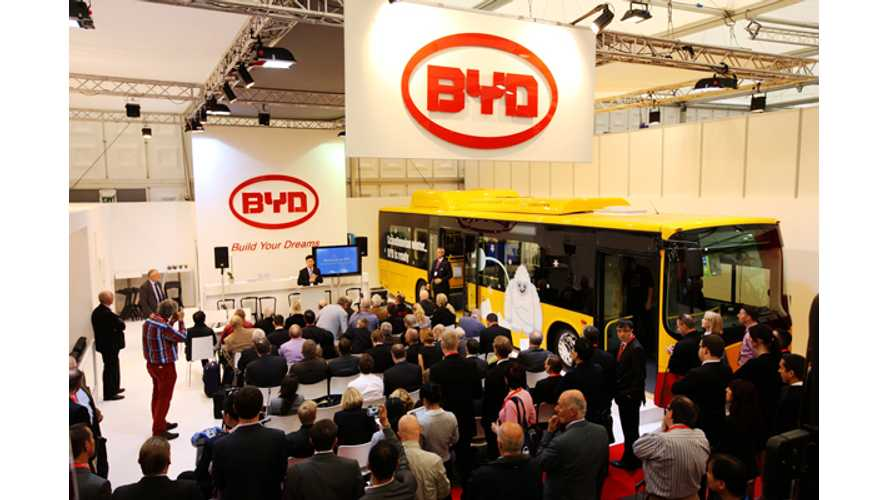 BYD: We Need 100 Bus Sales In Europe To Justify a Building a Facility There