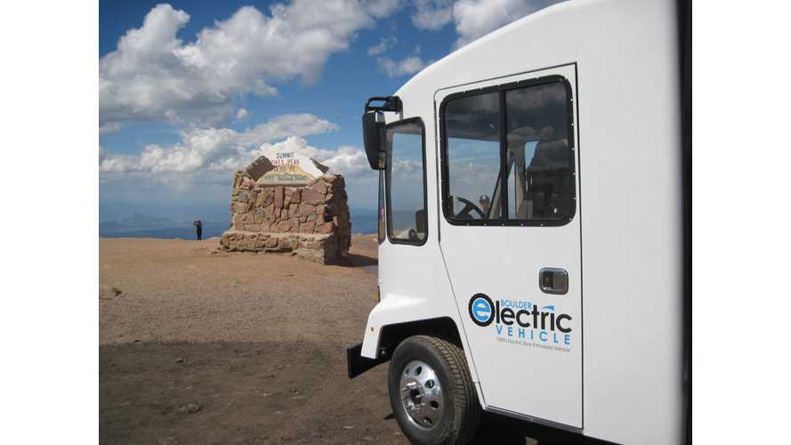Video: Boulder Electric Becomes World's 1st Electric Truck to Summit Pikes Peak