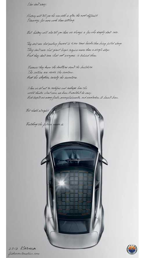 New Fisker Ads Speak to Company's Woes
