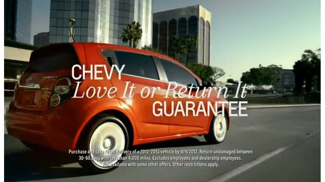 Don't Like Your New Chevrolet Volt?  Just Return it.  Chevrolet Offers 60 Day Returns