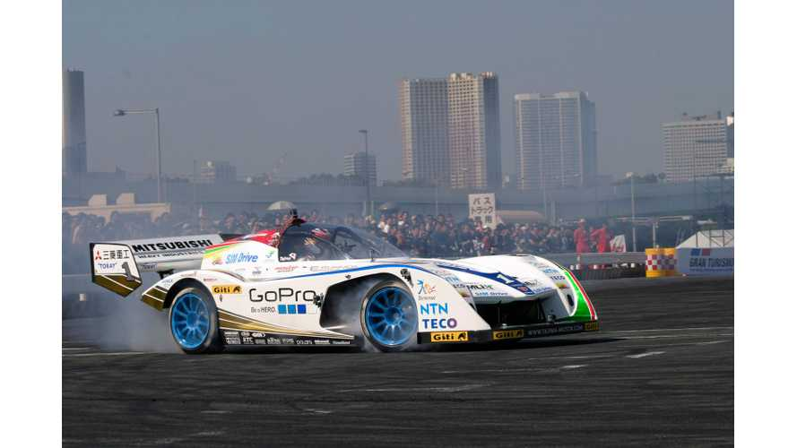 Video: World's Fastest Electric Vehicles Drift and Burn Rubber at Motor Sports Japan Festival