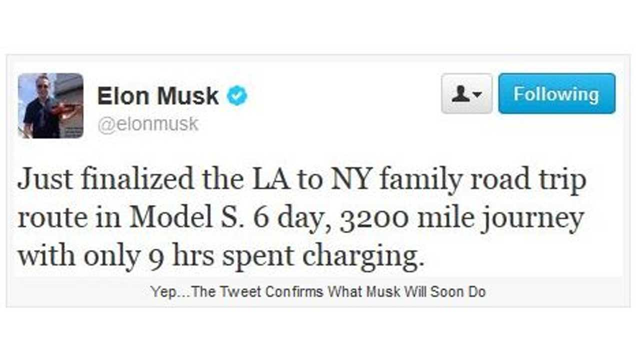 Musk Discusses Length of Trip and Time Spent Charging