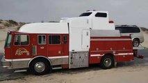 Fire Truck, Semi, And Wrecker Fused To Create Crazy RV