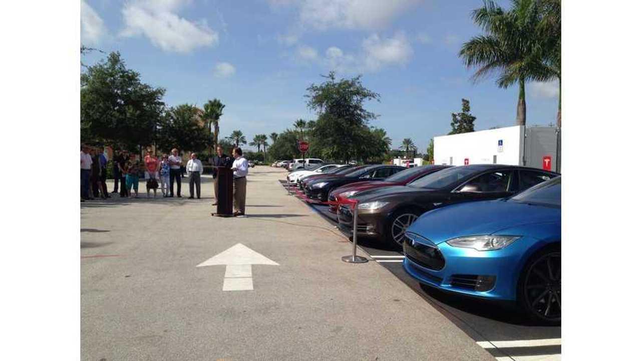 Latest Tesla Supercharger Station Goes Live in Port St. Lucie, Florida