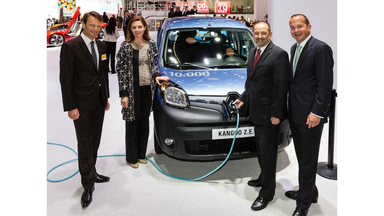 Renault Celebrates 10,000th Kangoo Z.E. Registration