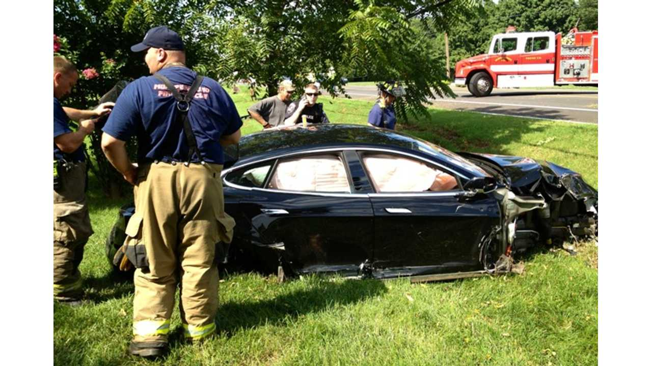 Tesla Model S Takes Out Utility Pole - Causes Blackout For Other EVs