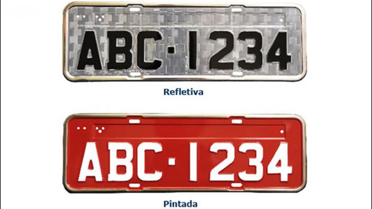 Placas refletivas para veículos passam a ser obrigatórias