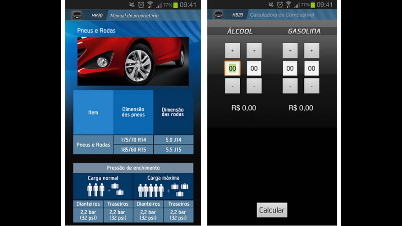"""Hyundai lança aplicativo """"Meu HB20"""" para smartphones"""