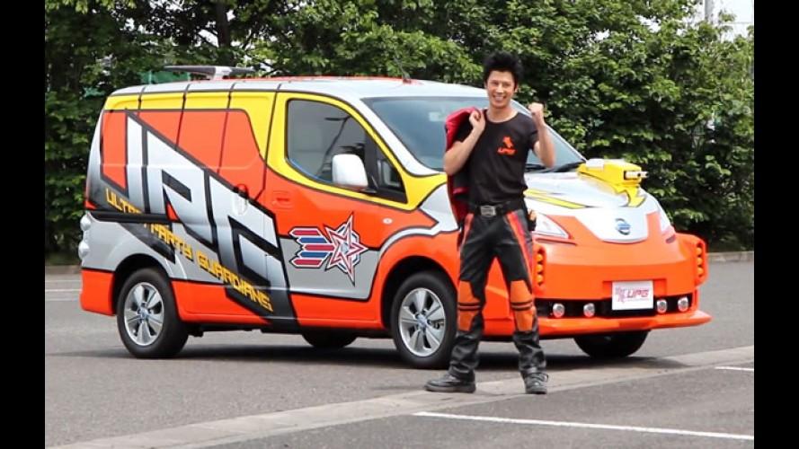 Ultraman moderno vai usar carros elétricos da Nissan para combater o crime
