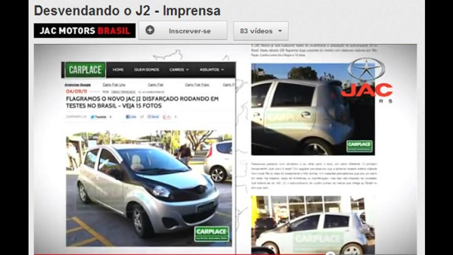"""VÍDEO: JAC Motors segue """"desvendando"""" oficialmente o Novo J2"""